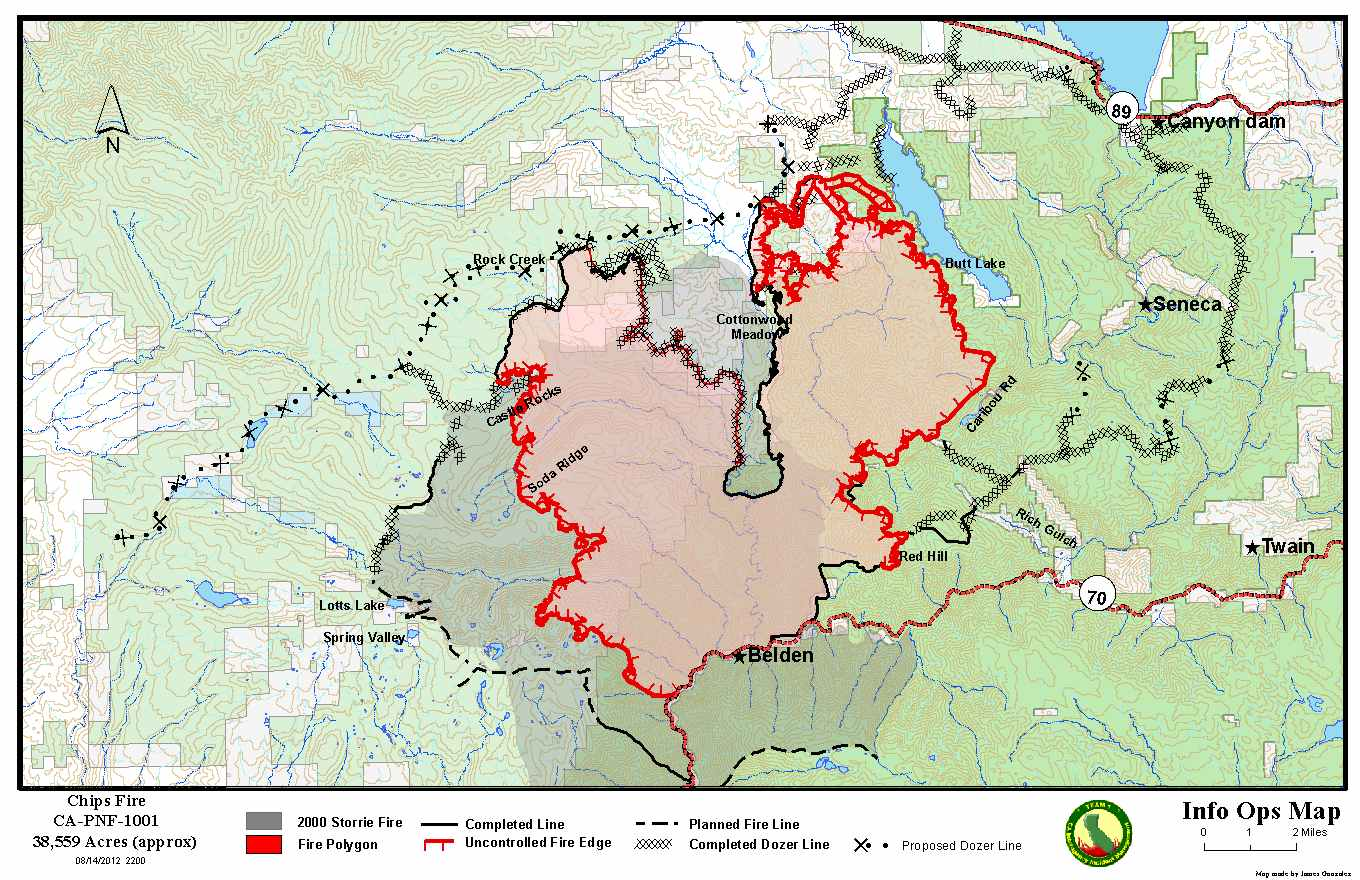 Chips Fire: Thursday Morning Report on Conditions