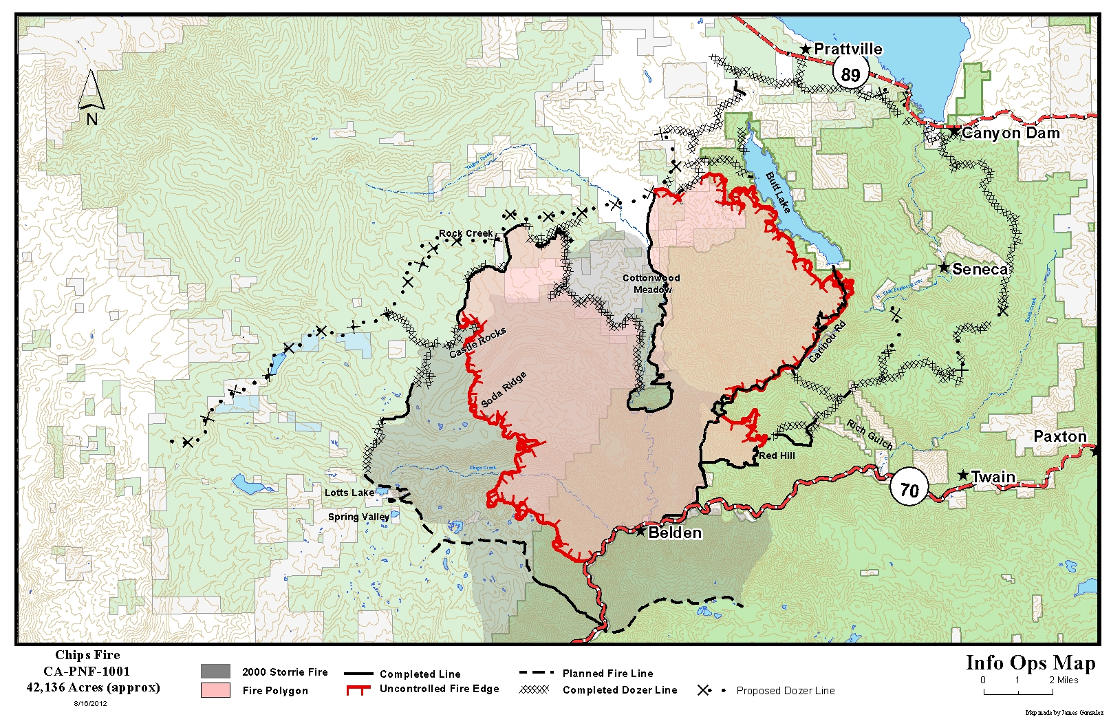 Chips Fire: Early Friday Update on Conditions with new Fire Map