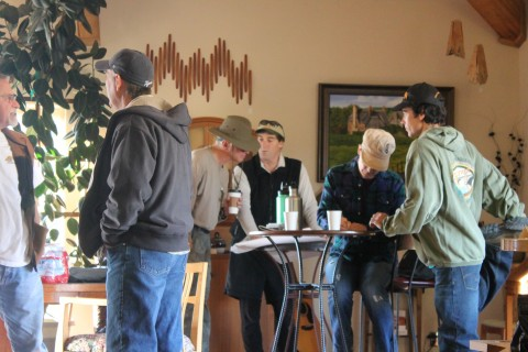 Hikers met at Artisan coffee in Janesville to prepare for a long day of hiking.