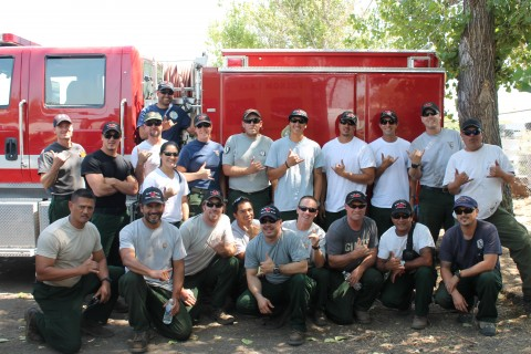 This crew traveled the furthest to reach the Rush Fire, all the way from Hawaii