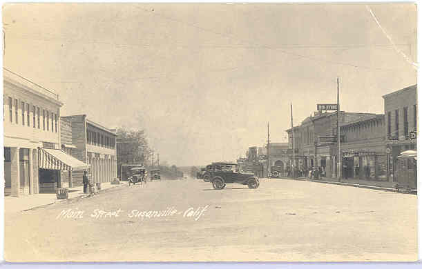 Susanville in the early 1920's from a photo postcard.