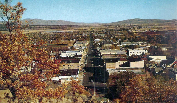 Postcard view of Susanville in the early 1960's