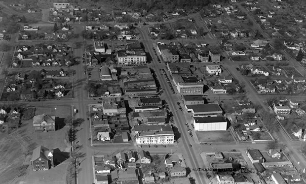 Uptown Susanville in the 1940's from the Lassen Historical Society