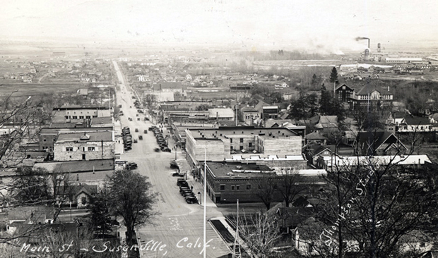Susanville from Inspiration Point in 1925. ~Lassen Historical Society~