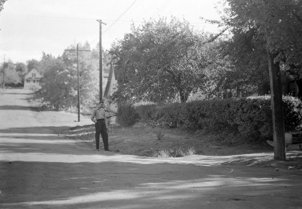 The scene of the accident, 1937. From the Couso Collection