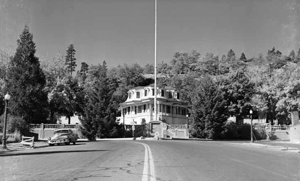 The Susanville Elks Lodge at the top of Main Street, 1955. An Eastman's Studio photograph