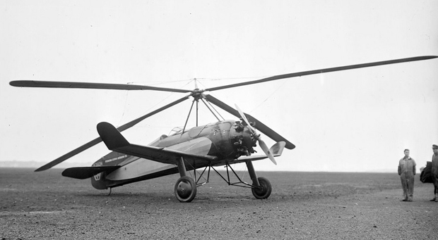 A 1931 model Pitcairn auto-gyro from thisdayinaviation.com