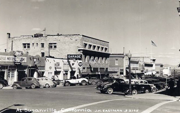 Uptown Susanville around 1940 ~ From an Eastman Studios postcard