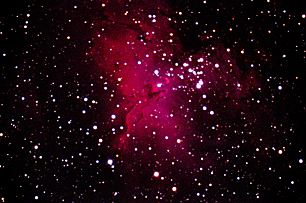 M16, the Eagle Nebula captured on film by Dr. Bateson.