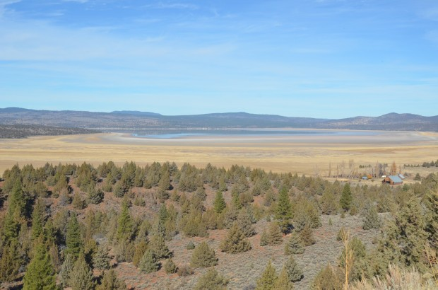 Bateson's picture of the lake from the overlook on Highway 139 just above Stones ranch.