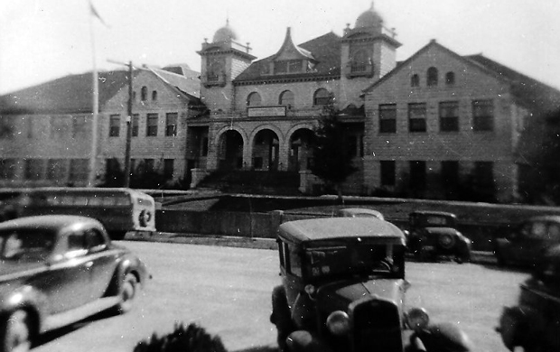 A snapshot view of Lassen High School in 1941