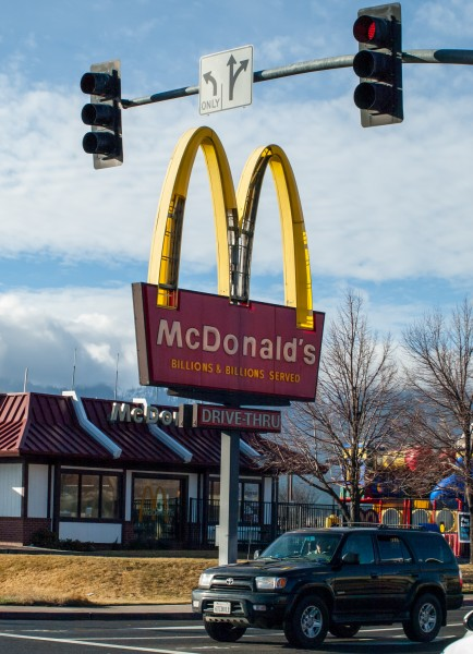 Throughout the valley very few signs weathered the storm without some damage. Yellow plastic from the McDonald's sign were reportedly found near the Skyline cutoof east of town.