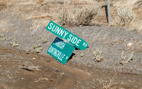 Road crews will have their work cut out for them repairing signs throughout the valley.