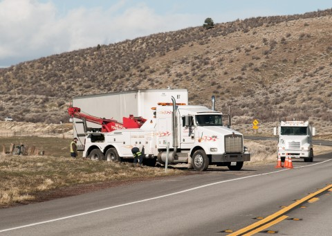 Local tow companies and commerical towing specialists from Reno were kept busy on Saturday uprighting a string of blown-over tractor trailer rigs between Susanville and the Nevada border on Highway 395.
