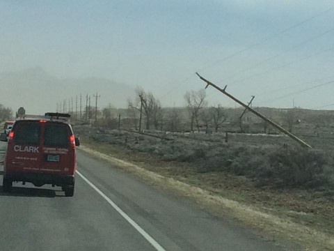 Jared sent us these photos of the destruction in the South County.