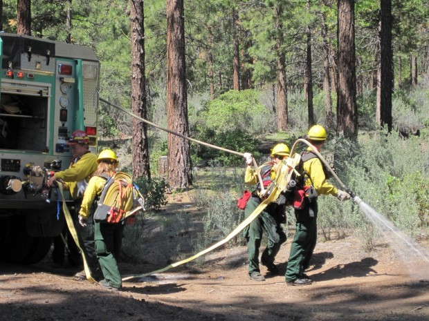Forest Service firefighters - photo submitted