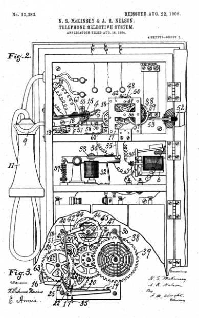 Noble S. McKinsey and A. R. Nelson's selective switch for telephone systems