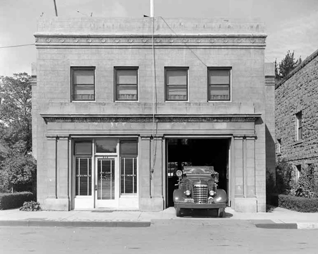 Susanville's City Hall and Fire Station on N. Lassen Street in 1947. ~Courtesy of UC Davis, Special Collections