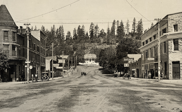 A photo postcard of uptown Susanville around 1920, ~courtesy California State Library, Digital Collection