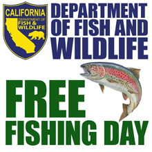 July 6th is Free Fishing Day Throughout the State of California